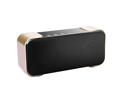 Qpw Portátil Bluetooth Altavoz Ordenador Coche Subwoofer Mini Dual Altavoz pequeño estéreo