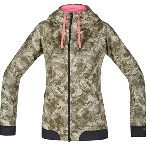 Windstopper Womans (Gore Bike Wear Women's Warm Soft Shell Hooded Mountainbike Jacket, GORE WINDSTOPPER, POWER-TRAIL LADY WS SO Hoody, Size 36, Camouflage, SWHFLP)