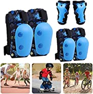 Uestamu Kids Protective Gear Set With 2*Elbow pad2*Palm pad2*Knee pads, S: Applicable age: 3-7 years old;M: Ap