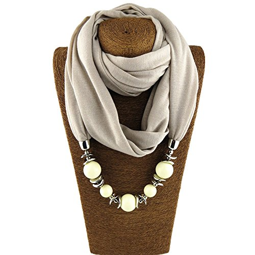 CAIYCAI Ethnic Unique Scarf Necklaces Resin Beads Pendant for sale  Delivered anywhere in USA