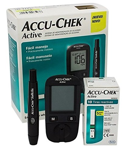 BLOOD GLUCOSE METER KIT ACCU CHECK ACTIVE