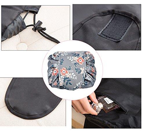 9bdfb0556eb9 Lemoncy Lazy Portable Makeup Bag Waterproof Drawstring Cosmetic Bag Makeup  Storage Organizer Large Capacity Travel Makeup Pouch Perfect Gift for Women  ...