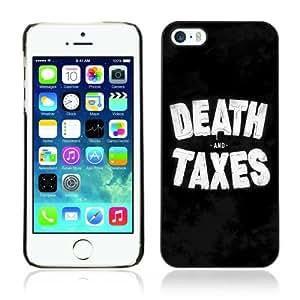 CQ Tech Phone Accessory: Carcasa Trasera Rigida Aluminio PARA Apple iPhone 5 5S - Funny Death & Taxes Sign