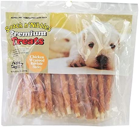 Alpha Dog Series Chicken Wrapped Rawhide Sticks-16oz Pack of 2