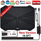 HDTV Antenna, Amplified HD Digital TV Antenna with Long 65-100 Miles Range