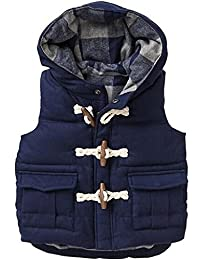 Machbaby Little Boys' Down Vest Winter Puffer Bubble Vest