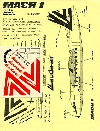 Mach 1 1:94 Lauda-air Fairchild F-27 for Revell - Decal Sheet #ML008