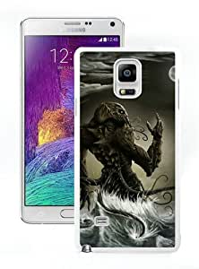 WOSN Cthulhu Monster Fantasy Mobile Wallpaper White Case Cover for Samsung Galaxy Note4