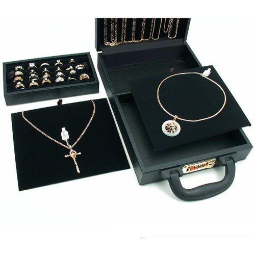 Ring Necklace Watch Jewelry Travel Case Storage Box New Clothing