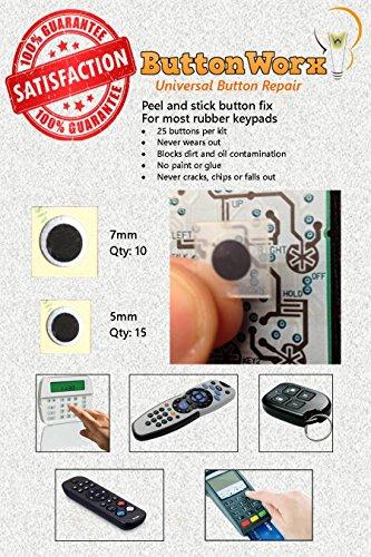 ButtonWorx rubber keypad repair kit - 25 buttons (Button Epoxy)