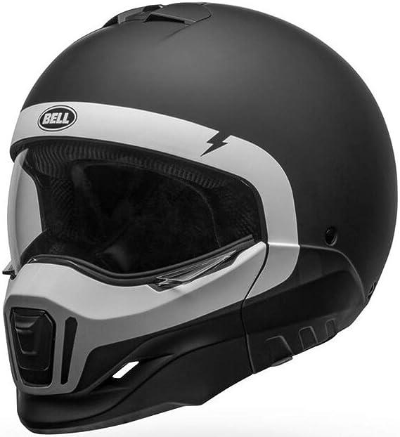Bell Helmet Broozer Cranium Matte Black White Xxl Broozer Cra 14 Xxl Auto