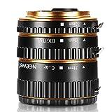 Neewer® Auto Focus Macro Extension Tube Set for Canon EOS DSLR SLR Lens, Extreme Close-Ups (Golden), fits Canon EOS 1d, 1ds, Mark II, III, IV, 5D,Mark II, 7D, 10D, 20D, 30D, 40D, 50D, Digital Rebel xt, xti, xs, xsi, t1i, t2i, t4i, t5i 300D, 350D, 400D, 450D, 500D, 550D, 650D, 700D, 1000D (Metal Bayonet 13-21-31mm)