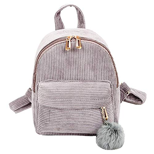 Clearance Sale,Realdo Girl Corduroy School Bag Student Backpack Satchel Travel Bookbag