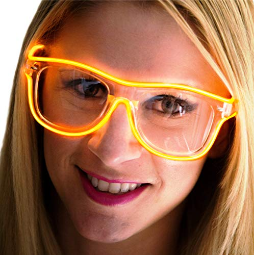 Neon Nightlife Orange Frame/Clear Lens Light Up