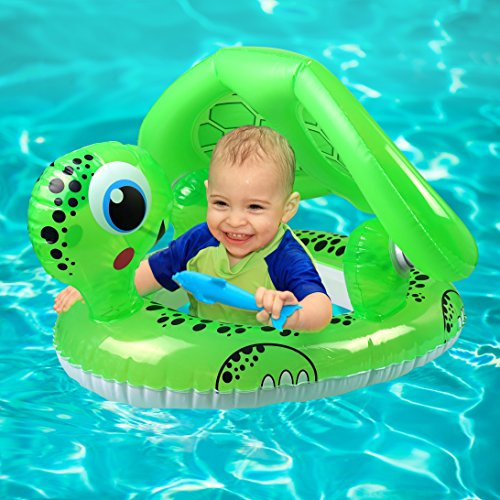 Baby Pool Float With Canopy - Baby Swim Float Infant Float with Sun Canopy - Float Ring with UV Protection - Toddler  sc 1 st  15.toppp.info & The Best highest-rated baby pool float products