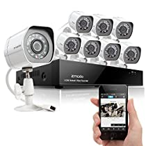 Zmodo Smart PoE Security System -- 8 Channel NVR & 8 x 720p IP Cameras and No Hard Drive