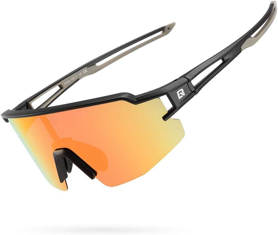 ROCKBROS Polarized Sports Sunglasses for Men Women Safety Sunglasses Bike Glasses CyclingGlasses Safety Sport Sunglasses UV Protection Running Driving Fishing Golf