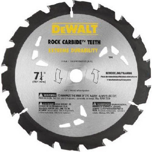 DEWALT DW3591B10 Series 20 7-1/4-Inch 18T Nail Cutting Circular Saw Blade (Nail Saw Circular Blade)