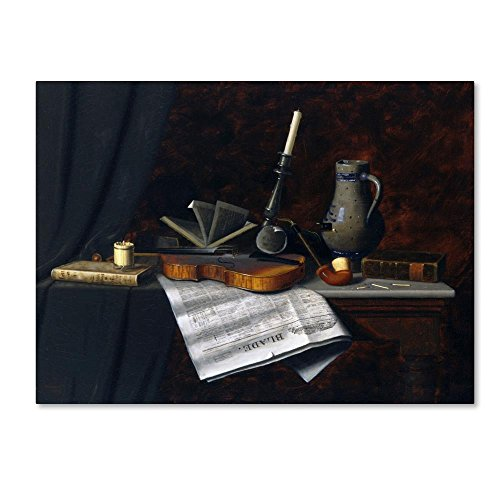 Still Life With The Toledo Blade by William Michael Harnett, 24x32-Inch Canvas Wall Art (Life Still Harnett William)