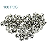 Maxmoral 100pcs Toothed Hex 6/32 Screw 6-32 Computer PC Case Hard Drive Motherboard Mounting Screws.