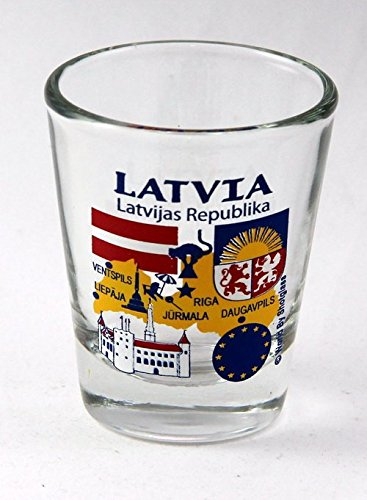 Latvia EU Series Landmarks and Icons Shot Glass