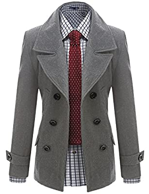 Doublju Mens Wool Double Jacket