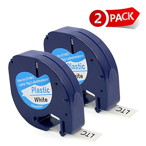 MARKLIFE Replace DYMO LetraTag Label Tape Refills Plastic