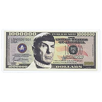 American Art Classics Spock Leonard Nimoy Star Trek Collectible Million Dollar Bill in Currency Holder.: Toys & Games