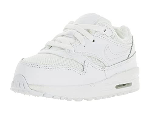new concept 88352 94756 Amazon.com  Nike Toddlers Air Max 1 (TD) White White Running Shoe 4 Infants  US  Sports   Outdoors