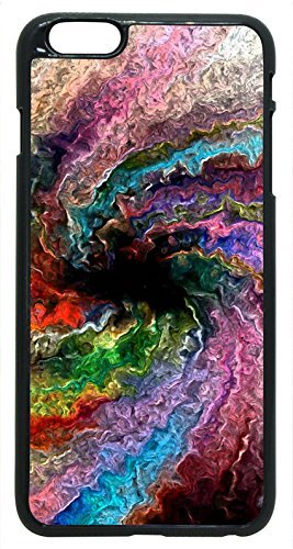 Generic Colorful Trippy Psychedelic Twister Spiral Normal Hard Case for iPhone 6 Black (Twister Mobile Cellular Phone)