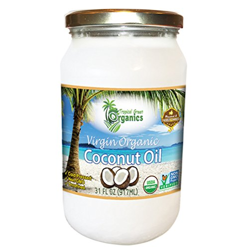 Tropical Green Organics Virgin Coconut Oil, 31 Ounce