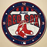 The Memory Company MLB Boston Red Sox 12-Inch Art Glass Clock