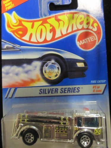 Hot Wheels Fire Eater 1995 Silver Series #1 Collector #322 Chrome W/7 Spoke Wheels 1:64 Scale (Station Hot Wheels Fire)