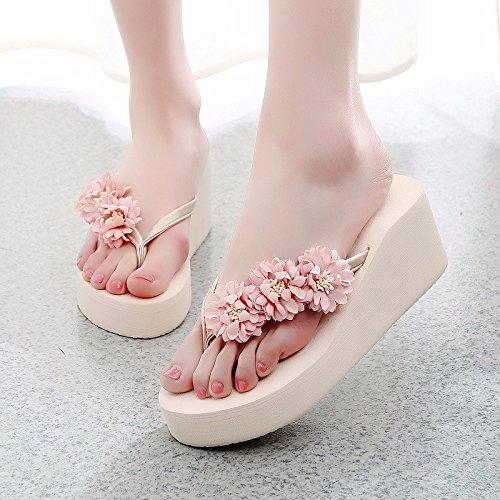 Las zapatillas de playa, la señora Sommer, nueva moda, sacar cooler Muffin, espesor de la playa, High Beach zapatillas. Beige