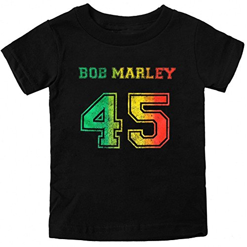 Price comparison product image Bob Marley Little Boys 45 Toddler T-Shirt,  4T Black