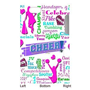 Funny Creative Unique Cheerleader Cheer Style iPhone 5 Case, Snap on Protective Cheerleader iPhone 5 Case