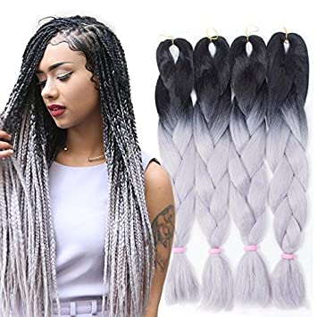 MZP Noir dreadlocks africains reggae grandes tresses de gradient de couleur  de cheveux extension de cheveux