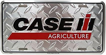 Diamond plate Metal License Plate INTERNATIONAL HARVESTER TRACTOR NEW