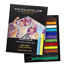 """PRISMACOLOR ART STIX Pencil, Woodless Colored Pencils 3-1/4"""" x 1/4"""" № 1952, Box of 12, Assorted Colours (2162)"""
