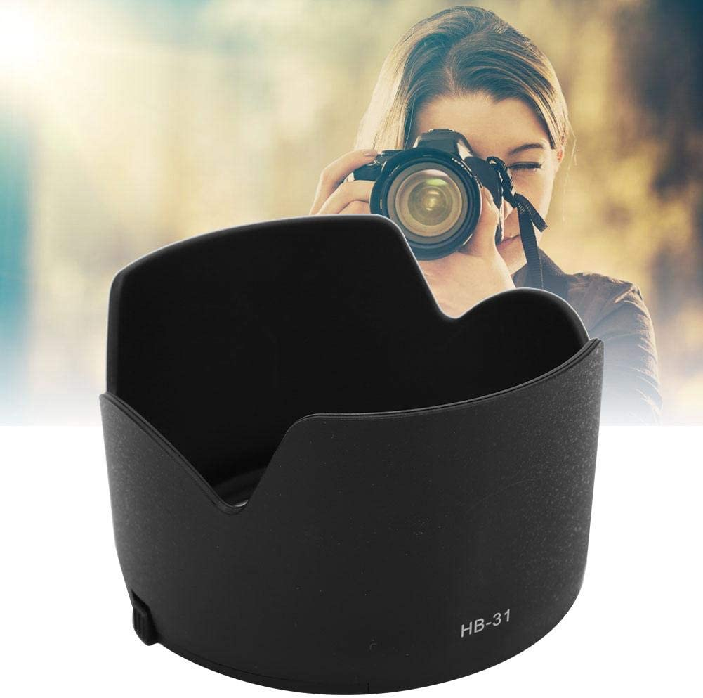 Mugast HB-31 Lens Hood,Portable Plastic Sun Shade,Professional Replacement Lens Hood Shade Accessory for Nikon AF-S DX17-55mm f2.8 Lens.