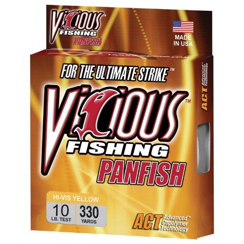 Vicious Fishing Yellow PYL10 Fishing Line 330yd/10Lb
