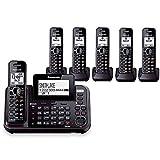 Panasonic KX-TG9542B + cuatro KX-TGA950B, 6-inalámbrico de teléfono sistema (2 line) DECT 6,0 1,9 gHz