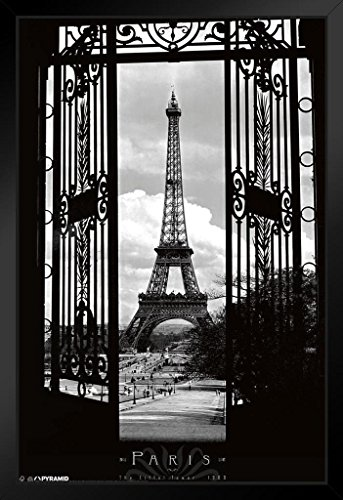 Pyramid America Eiffel Tower Through The Gates Framed Poster