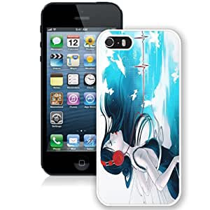 Fashion Custom Designed Cover Case For iPhone 5S Anime Music White Phone Case