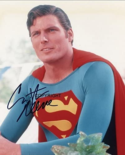 LIMITED EDITION CHRISTOPHER REEVE SUPERMAN SIGNED PHOTOGRAPH CERT PRINTED AUTOGRAPH