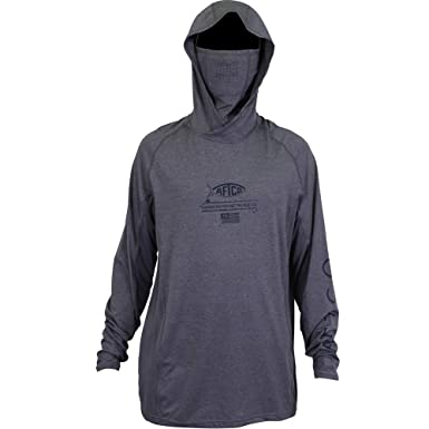 2d0e082c9 Image Unavailable. Image not available for. Color: AFTCO Barracuda Geo Cool  Hooded LS Performance Shirt ...