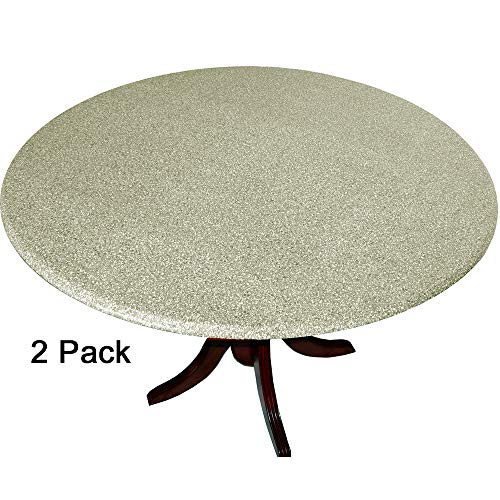 2 Pack of 2 Go Granite Fitted Tablecovers (Table Covers, Tablecloths) with The Look of Polished Granite