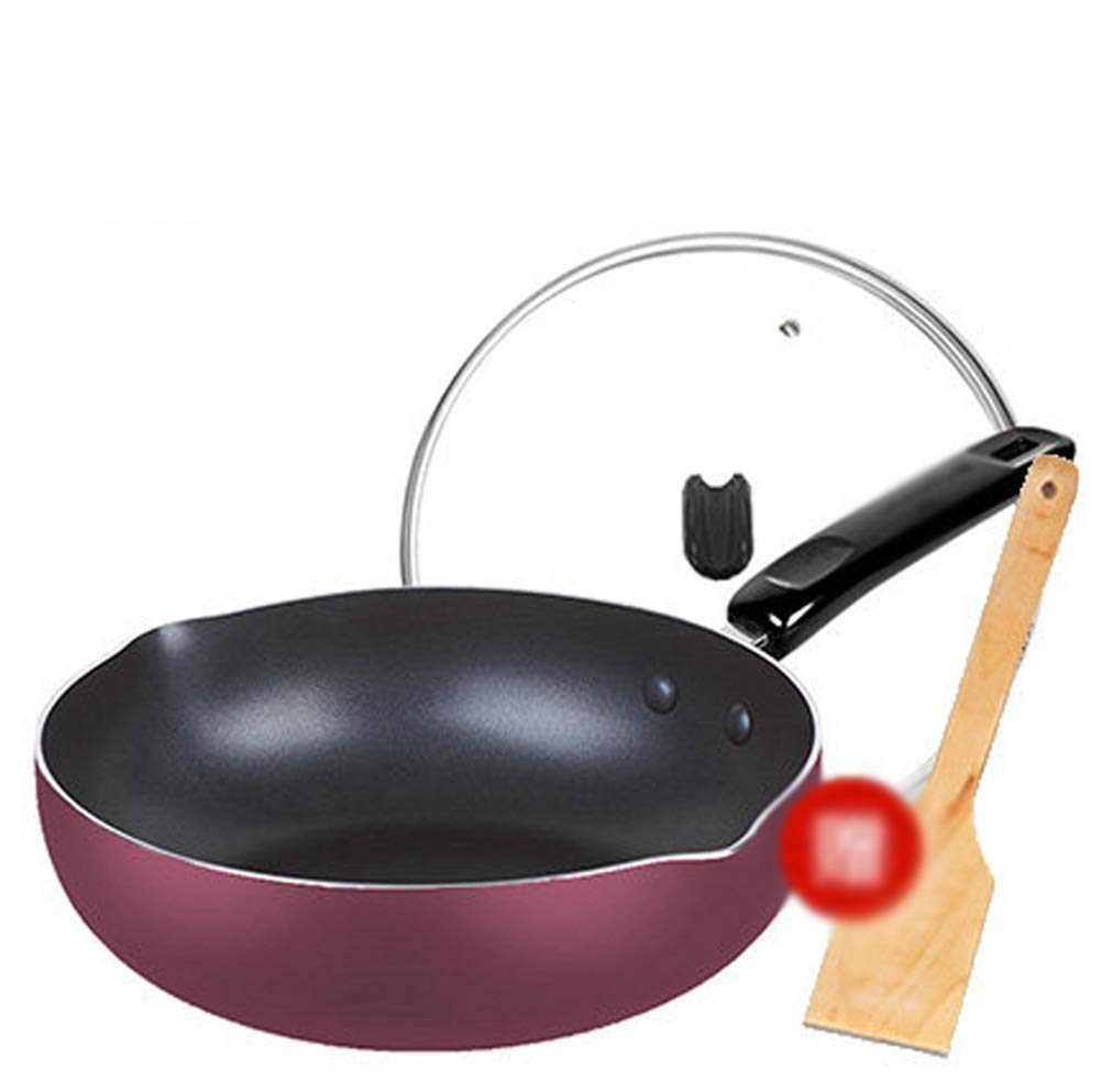 WYQSZ Wok - Non-stick cooker non-stick wok flat bottom non-stick wok kitchen cooking multi-function wok -fry pan 2365 (Capacity : B)