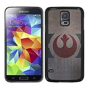 Funda carcasa TPU (Gel) para Samsung Galaxy S5 logo alianza rebelde envejecido SW borde negro