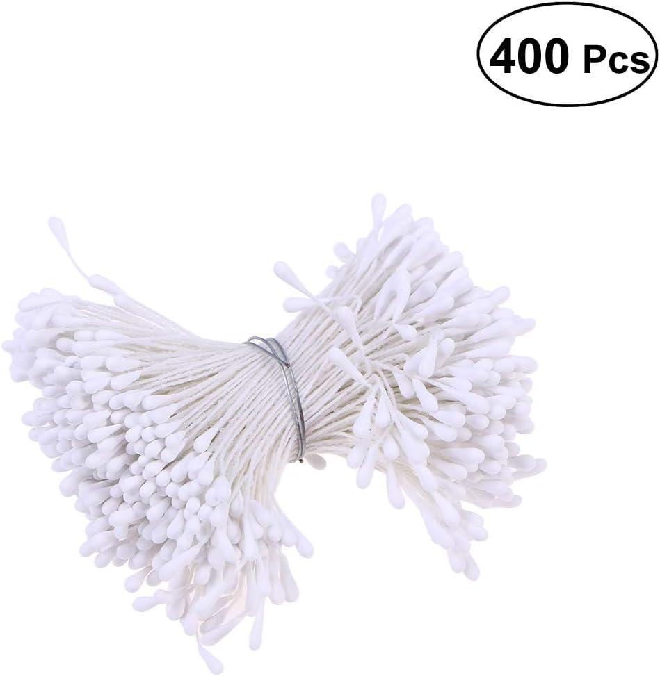 Set de la Flor Vosarea Estambre Floral Artificial para la decoraci/ón del Libro de Recuerdos 400pcs